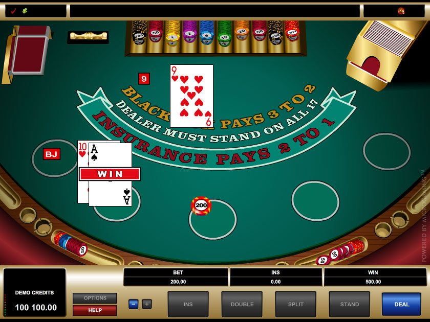 online casino blackjack gaming