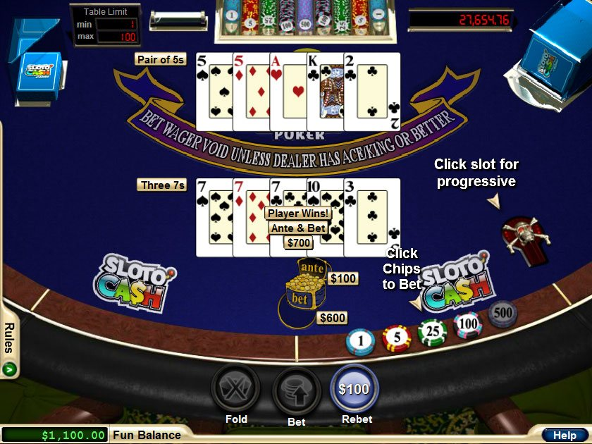online casino play for fun caribbean stud
