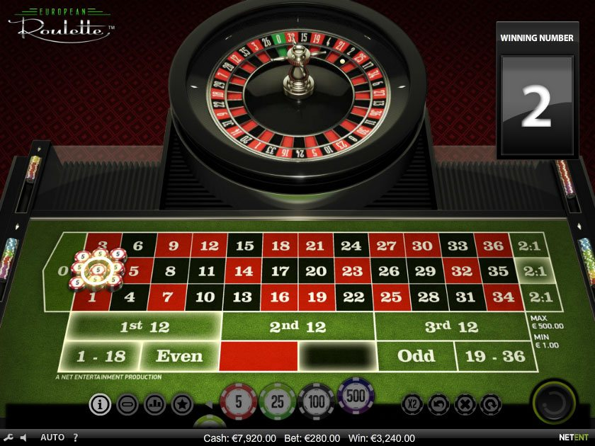 Roulette online no money