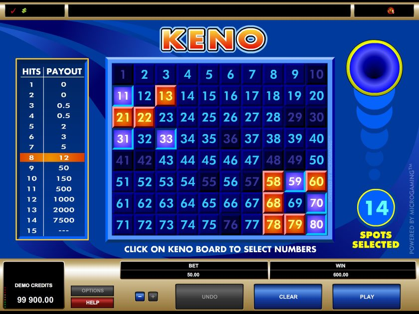 Play Keno Arcade Games Online at Casino.com