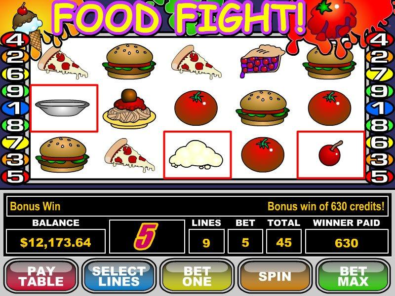 Food Fight Slot - Play the Free RTG Casino Game Online