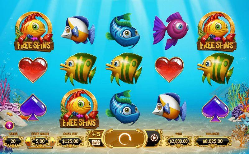 Golden fish tank slot game play for free or for real for Fish slot machine
