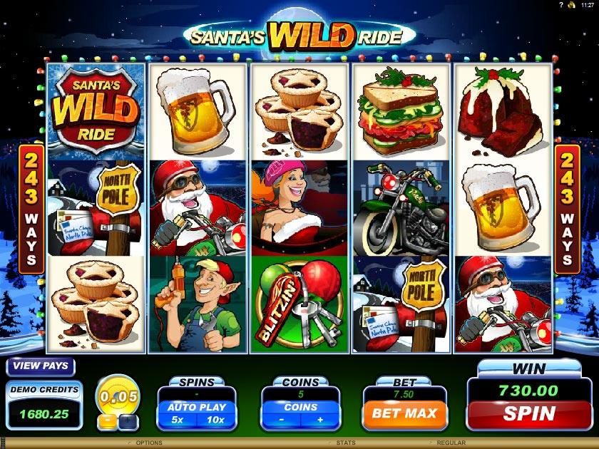 Santa's Wild Ride™ Slot Machine Game to Play Free in Microgamings Online Casinos