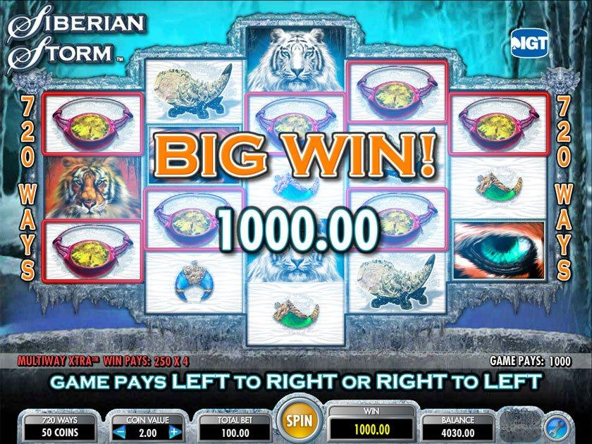 Casino game video slots siberian storm cahuilla indian casino anza