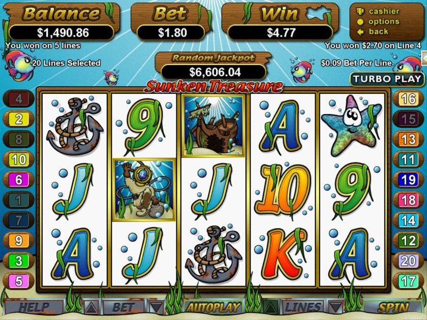 Sunken Ships Slot™ Slot Machine Game to Play Free in WGSs Online Casinos
