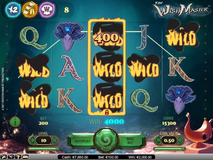 The Wish Master Slots Machine - Free Online Video Slot Game