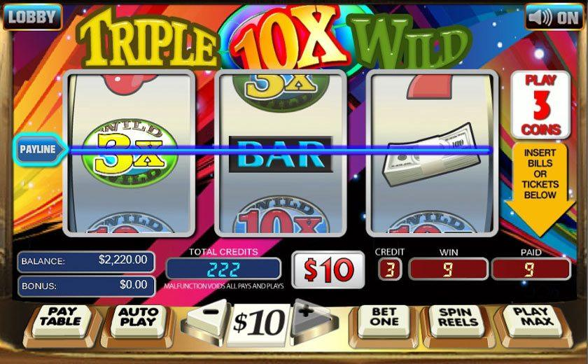 x slot machine online