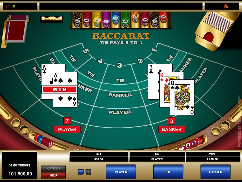 Baccarat Gambling Game
