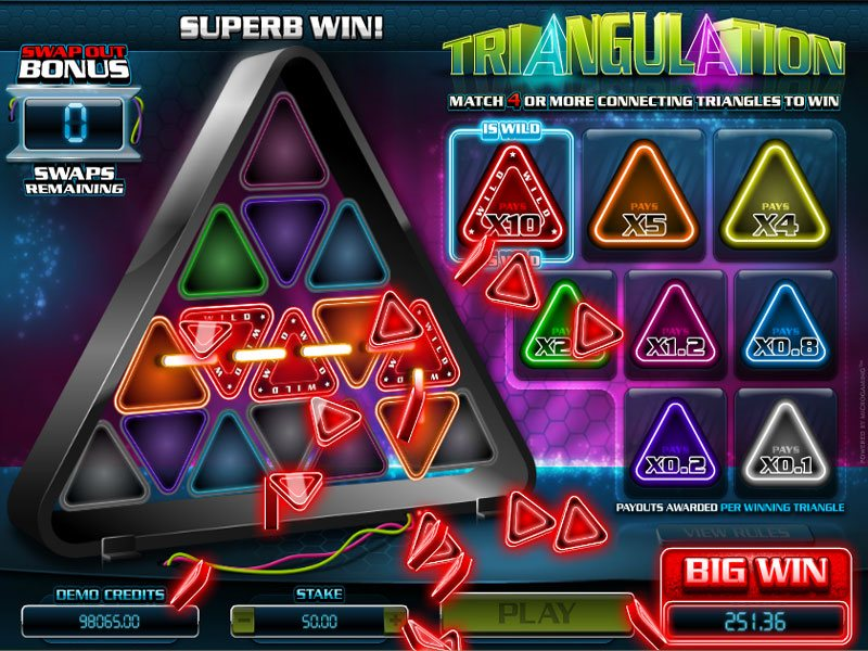 Triangulation Casino Game - Enjoy the thrill of Microgaming Specialty Games  for Free without Download or for Real Money
